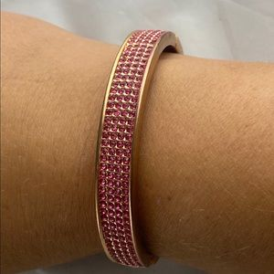 Juicy Couture Jewelry - Juicy Couture pink glam signed hinged bracelet
